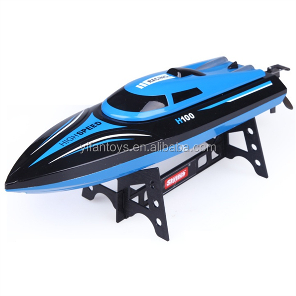 Skytech new toys for kid 2016 Remote control Ship Toys 2.4G AUTO Overturn RC Boat Model H100 with LCD Screen Controller