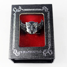 Transform-ers Autobot Ring Stainless Steel Silver Cosplay rings