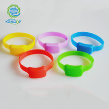 OEM refillable silicone mosquito repellent bracelet anti mosquito wristband with active citronella pellets