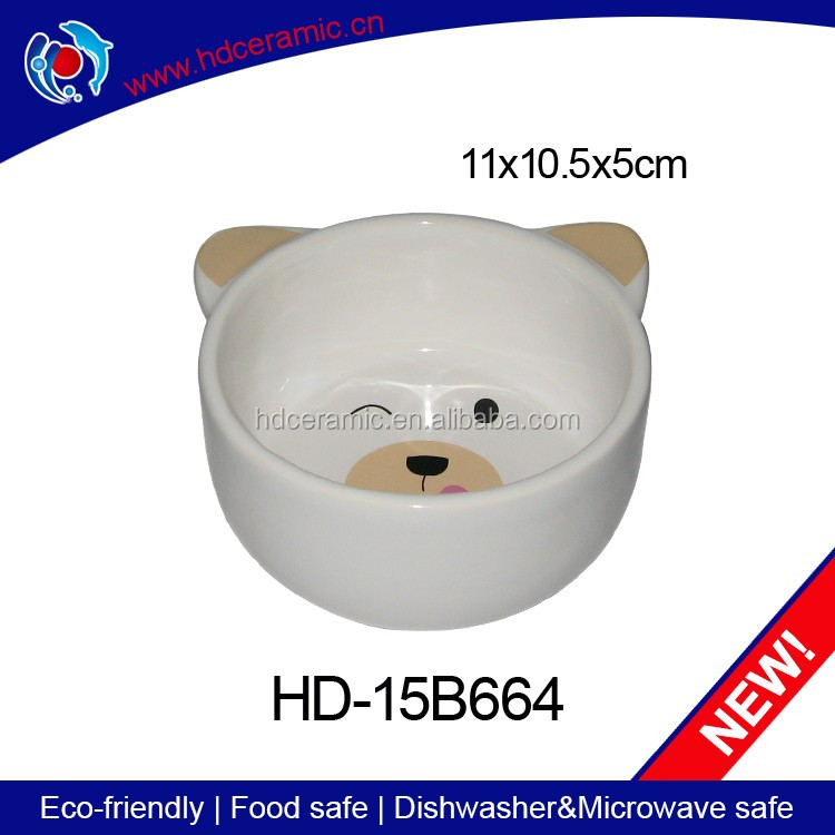 Manufacturer direct wholesale ceramic cat bowl