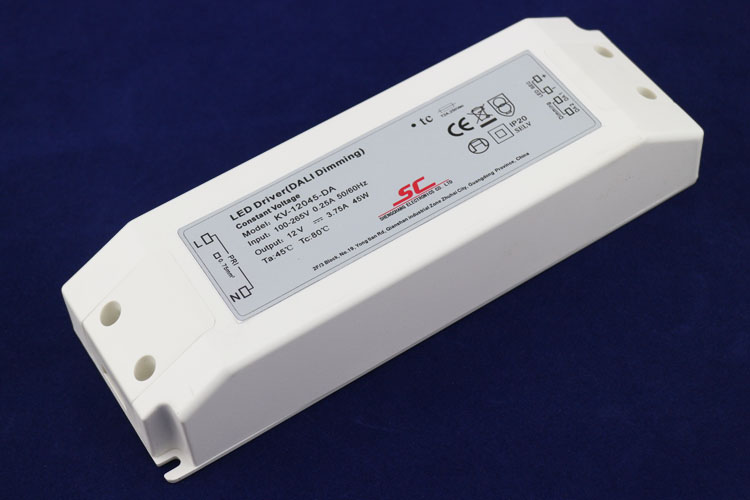 High effeciency DALI dimming 12v 45w 3.75A ip20 constant voltage led dali 12volt transformer for led