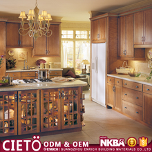 china cheap European style simple modern fitted board kitchen cabinets with flat pack