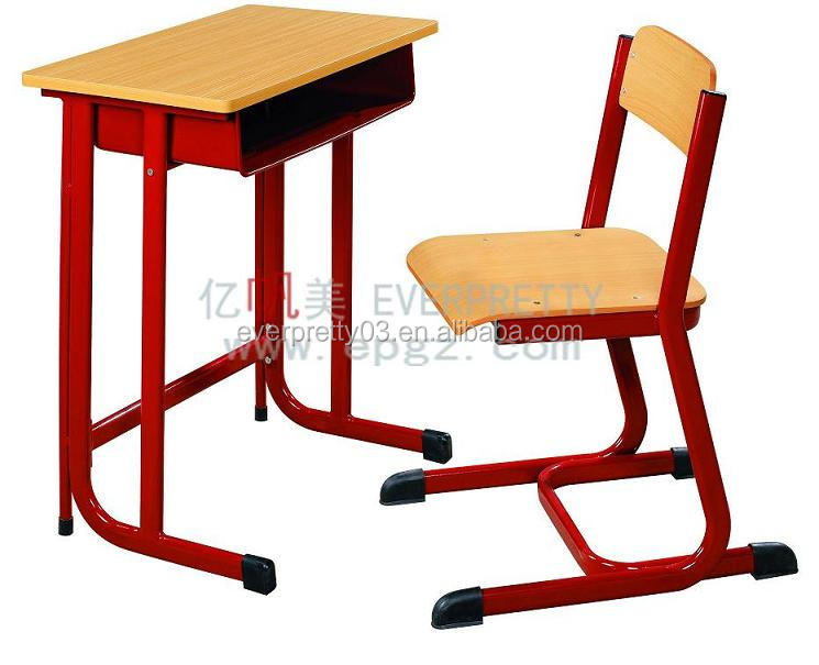 Steel study antique children writing desk Single Student Table with Chair for School Grade 1 to Grade 12