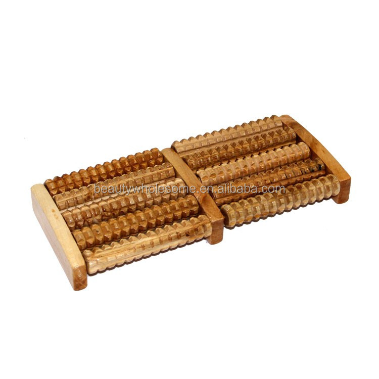 Health Wooden Foot Rolling Massager