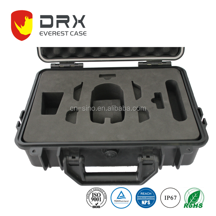 EVEREST ip67 hard protective waterproof plastic equipment case/gun box/tool box with with engineered foam