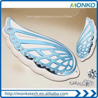 New Design Cartoon Angel Wings Mobile Power Bank/Beatiful Look Portable Powerbank For Gift