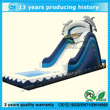 funny inflatable dolphin water slide for sale
