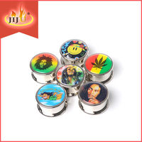Yiwu jiju JL-170J top selling product smiling face metal tobacco grinder