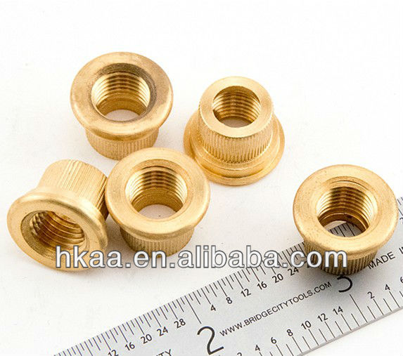 small brass straight knurled decorative screws and nuts