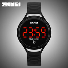 skmei 1230 touch screen wristwatch time date alloy led watch cool watches men