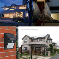 BSCI approved led solar garden lamp New Design solar led outdoor wall light