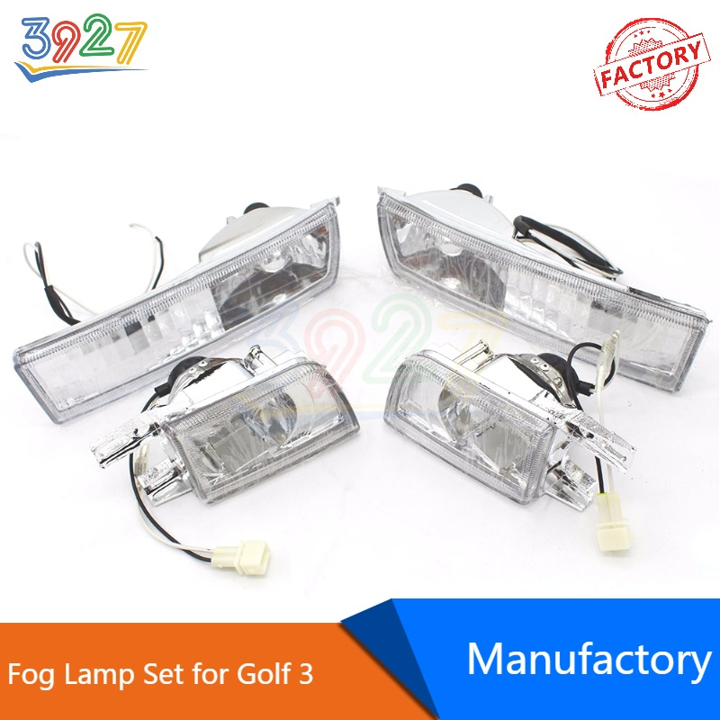 Auto Car Front Bumper 4pcs/Set Clear Fog Lamp / Light for VW Golf 3 MK3 1991 - 1997