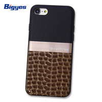 Best selling high end fancy hybrid tpu metal frame leather cell phone case