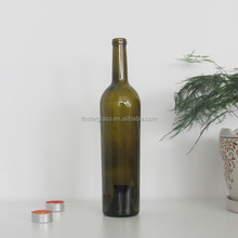 wine bottle 750 ml bordeaux glass bottle cork finish emptu glass bottles sale
