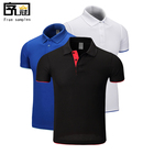 Wholesale pique cotton 65% cotton 35% polyester short sleeve polo shirts for men custom logo