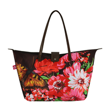 NB156 Flower Reusable Shopping Bag Folding Nylon Bag