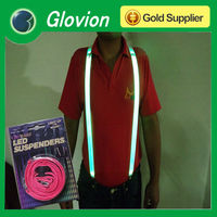 Lighting men suspenders men wearing suspenders flashing led party strap