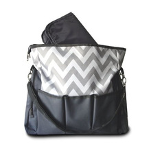 Chevron Messenger Baby Diaper Bags Ideal for Organizing all Babies Essentials Travelling or Hanging on your Stroller Nappy Bag