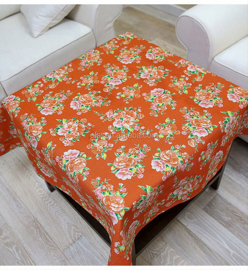 vinyl tablecloths with flannel back/plastic vinyl printed pvc tablecloth for home