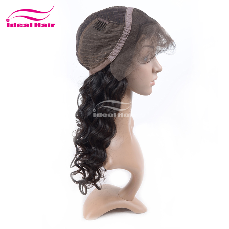 Wholesale real yaki brazilian human hair wig,free sample silk top human hair full lace wig with baby hair