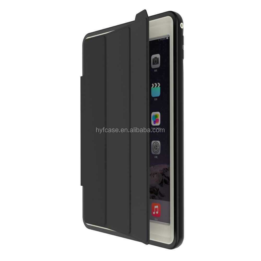 Heavy duty shock proof kickstand case for iPad Air 2 with sleeping fuction for iPad Air case