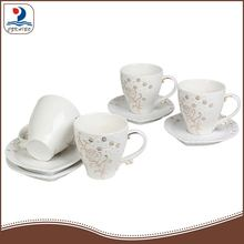 high quality golden decal ceramic tea cup and saucer