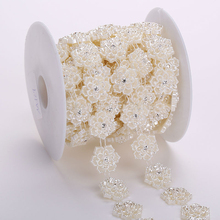 High Quality Fashion Flower Beads Trim, ABS Plastic Banding Decor For Bridal Dress