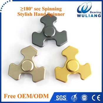 2017 hot 608 hybride ceramic bearing aluminum metal Tri Spinner Fidget