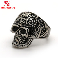 2016 Fashion Casting wolf Head 316L Stainless Steel The Expendables Skull Ring