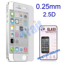 0.25mm+2.5 Degree Arc Incision Tempered Glass Explosion-proof Screen Protectors for iPhone 5 5s 5C