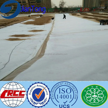 White geotextile felt landfill building construction material