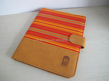 Stock leather case for iPad 2/3/4 Handmade Ancient Fabric