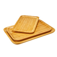 Popular high quality bamboo wooden serving rolling tray