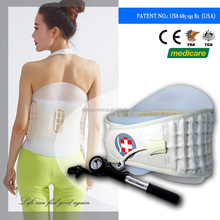 Easy to use and travel soft light-weight orthopedic back waist support belt to relax musle stains
