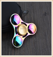 Colorful Fidget Spinner Alloy Rainbow Metal Gyro Hand Spinner Metal Rainbow for ADHD