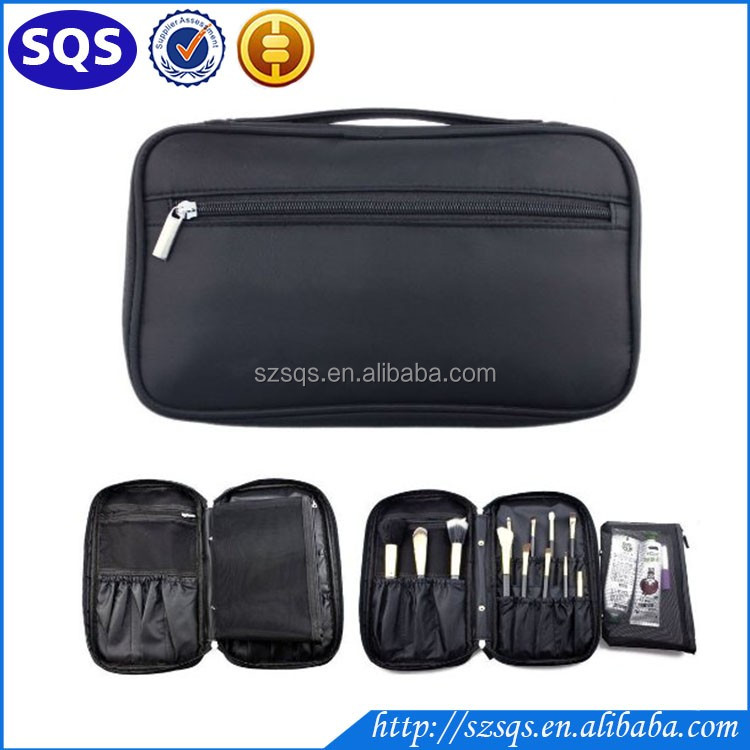 2016 Timed Promotion Multifunctional Makeup Brush Zipper High Quality Cosmetic Case for <strong>Travel</strong> & Home Use