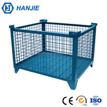 Galvanized iron metal wire mesh custom collapsible pallet box