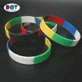 Wholesale Factory Direct Price Customized Printed Rainbow Soft Rubber Silicone Bracelets for Women