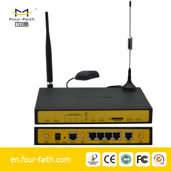F7436 industrial cellular 3g gps wifi wcdma router for monitor proyecto