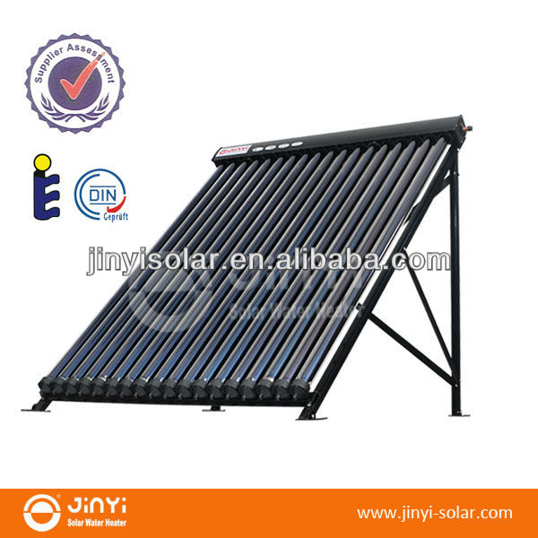 18 tubes Vacuum tube Heat Pipe Solar Collector with solar keymark