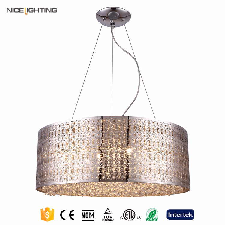 Silver paint Metal steel large orb chandelier for living room