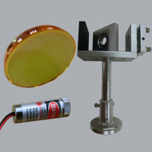 CO2 laser beam combiner + beam combiner mount support + red dot laser module pointer 650nm 20mm 25mm dia