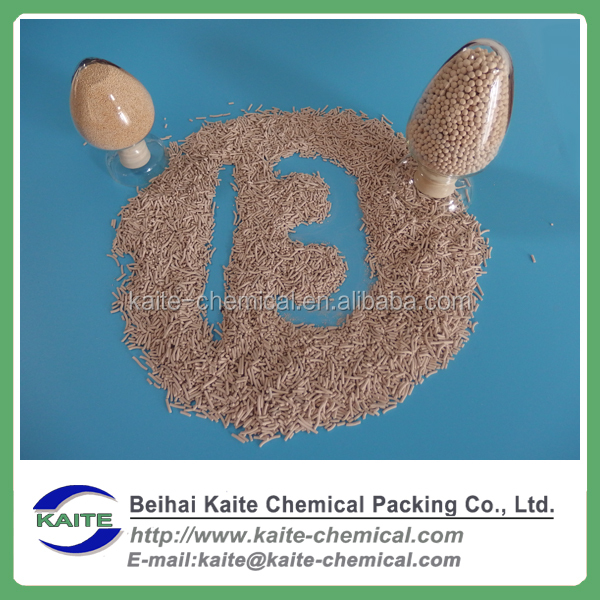 13X molecular sieve drying agent/catalyst support