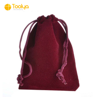 promotional velvet drawstring gift bag jewelry packing bag with customize company logo