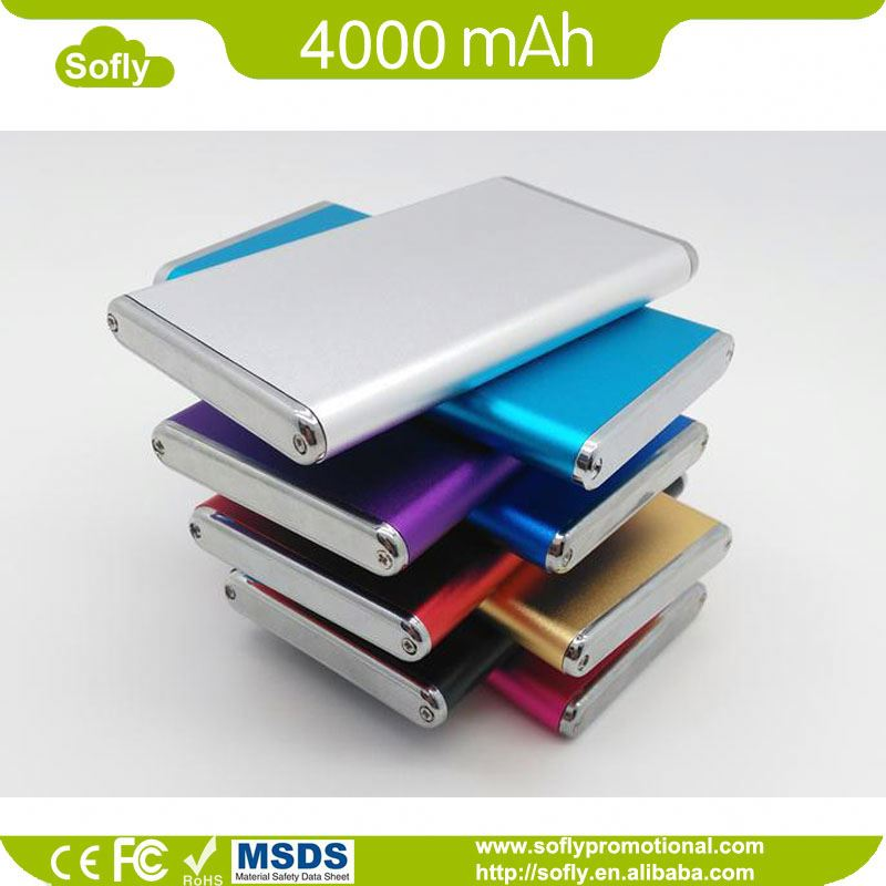 Ultra slim aluminum case charge power bank 6000mAh for iPad, for iPhone and smartphone