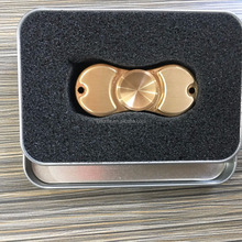 Metal hand spinner Brass finger fidget spinner toy with fast speed & long spinning time & stable performance