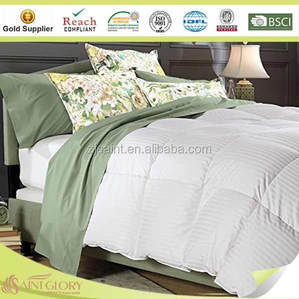 Factory Wholesale 100% Cotton Cover with Down Feather Filling Hotel Duvet/Comforter/Quilt