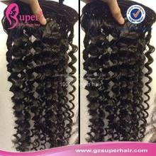 Brazilian clip in human hair, ghana hair extension, brazillian curly hair half wig