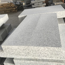 High quality white and grey natural granite standard size kerbstone