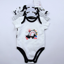 top quality newborn kids clothes soft cotton unisex 3pcs baby rompers